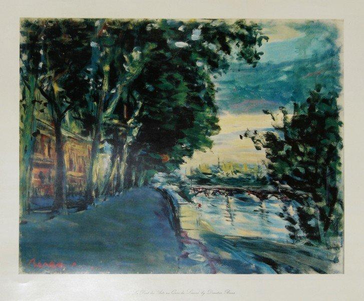23: Dimitrie Berea, Le Pont des Arts au Quai de Louvre,