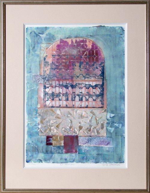 24: Anita Bernarde, Portals 1, Oil Monotype