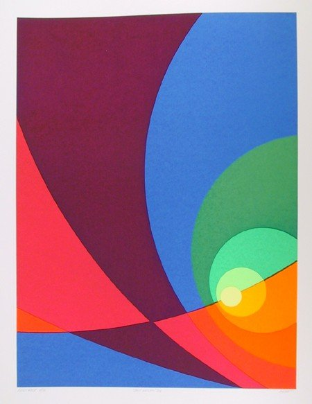 1: Herbert Aach, Split Infinity #B15, Lithograph
