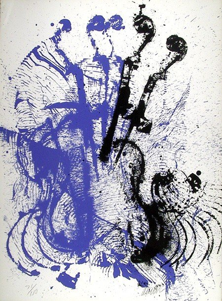 10: Arman, Electric Concerto, Serigraph