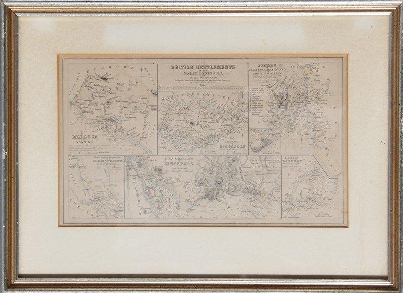 19: John Bartholomew, British Settlements, Engraving