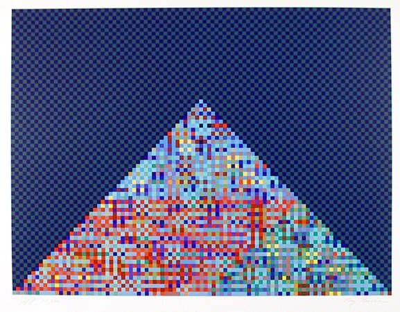20: Tony Bechara, Pyramid, Serigraph