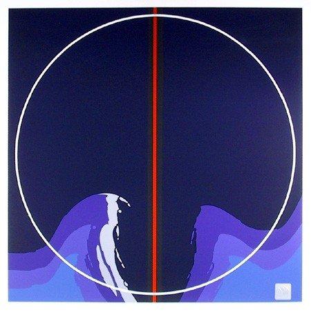 245: Thomas Benton, Earth series I Blue, Silkscreen