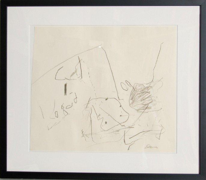 246: Gene Davis, Abstract Crayon Drawing