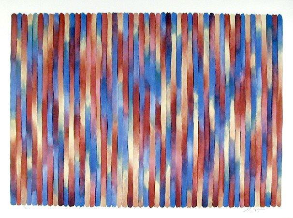 248: Gene Davis, Banjo, Lithograph