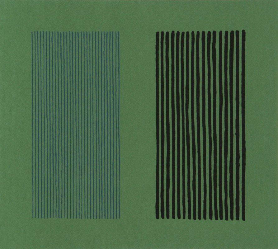251: Gene Davis, Green Giant, Lithograph