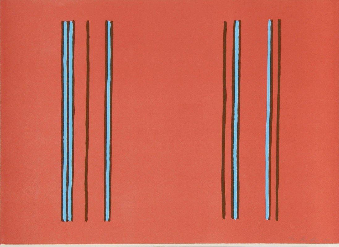 252: Gene Davis, Lilac, Lithograph