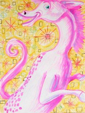 590: Kenny Scharf, Horsey, Magic Marker Drawing