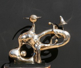 Kenny Scharf, Cosmiganic, Bronze Sculpture
