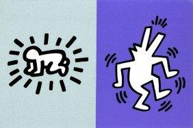 593: Keith Haring, Memorial Tribute Invitation, Silkscr
