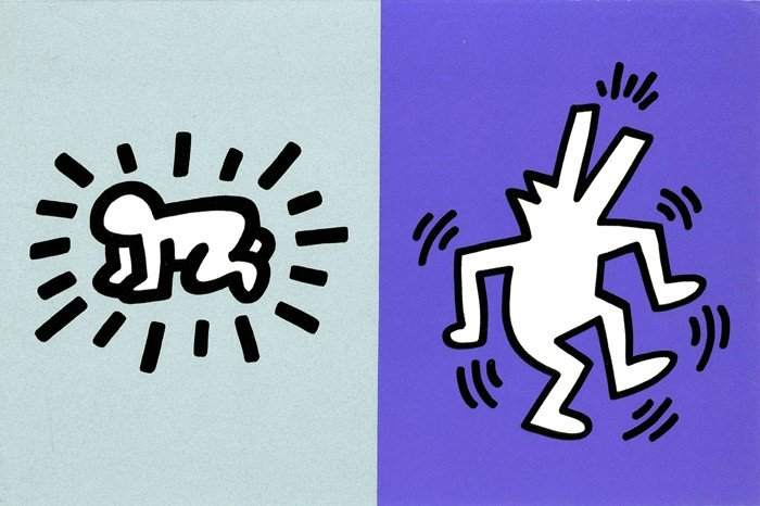 593: Keith Haring, Memorial Tribute Invitation, Silkscr