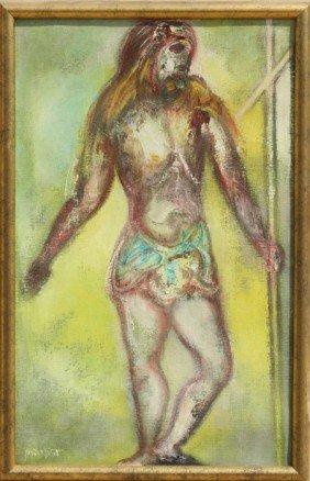 597: Joachim Probst, St. John the Baptist, Oil Painting