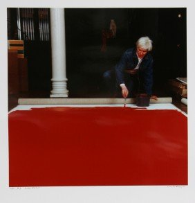 605: Curtis Knapp, Andy Warhol Red Series 3, Color Phot