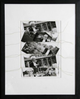 607: Christopher Makos, Andy Warhol Collage, Sewn Colla