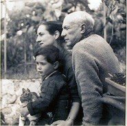 608: Boris Lipnitzki, Picasso, Francoise Gilot and Son