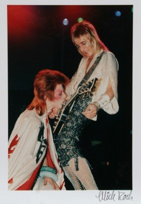 611: Mick Rock, David Bowie and Mick Ronson, Color Phot