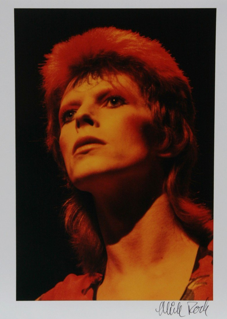 612: Mick Rock, David Bowie, Color Photograph