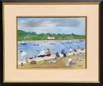 729: Vestie Davis, Coney Island Fisherman, Ink and Wate