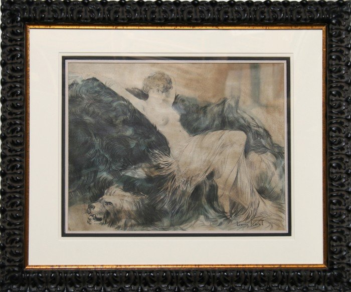 19: Louis Icart, Nude on Rug (Study for Paresse), Graph