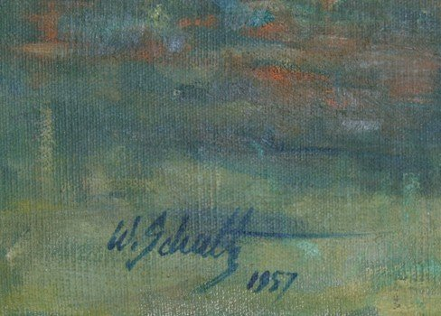 31: William J. Schultz, Outdoor Figure Study, Oil Paint - 4