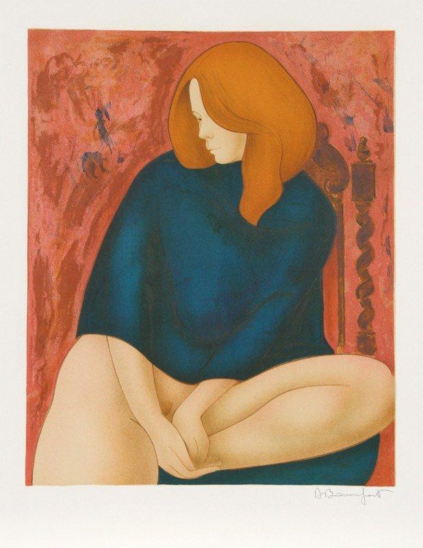 3: Alain Bonnefoit, Nude (10), Lithograph