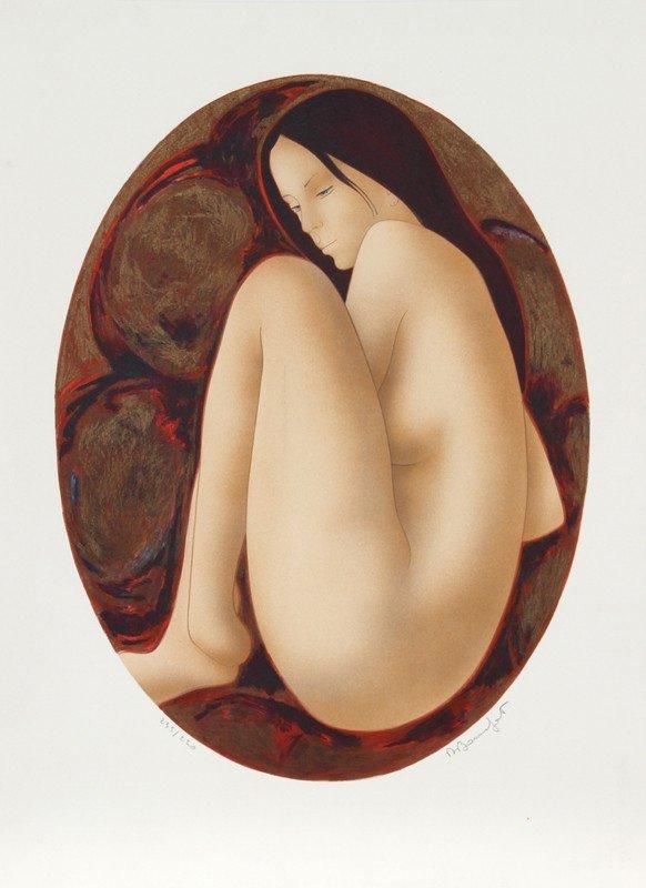 4: Alain Bonnefoit, Nude (11), Lithograph