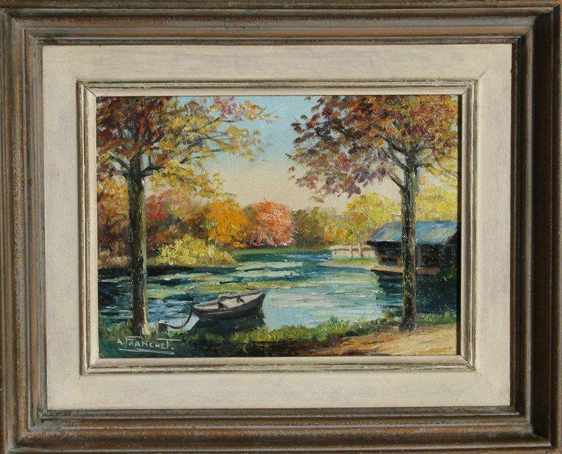 11: Andre Franchet, L'Essone en Automne, Oil Painting