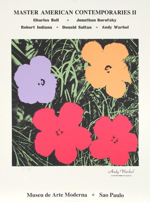 14: Andy Warhol, Master American Comtemporaries II, Sil