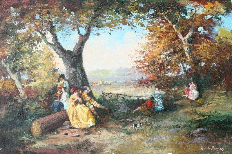 42: Carlos Vargas, Oil Painting