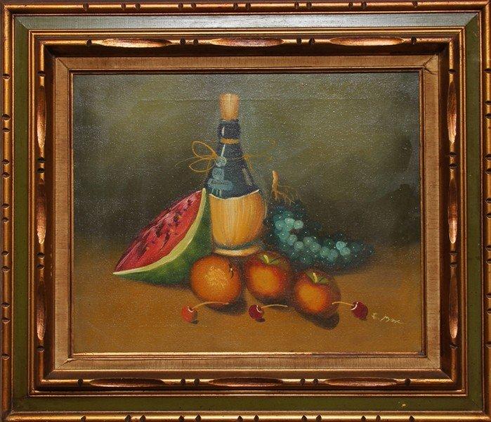 72: E. Max, Still Life, Oil Painting