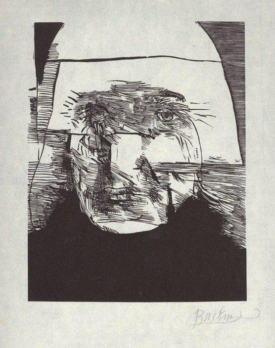 191: Leonard Baskin, Charles Meryon, Woodcut