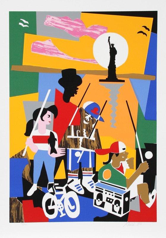 197: Loren Munk, Liberty, Silkscreen