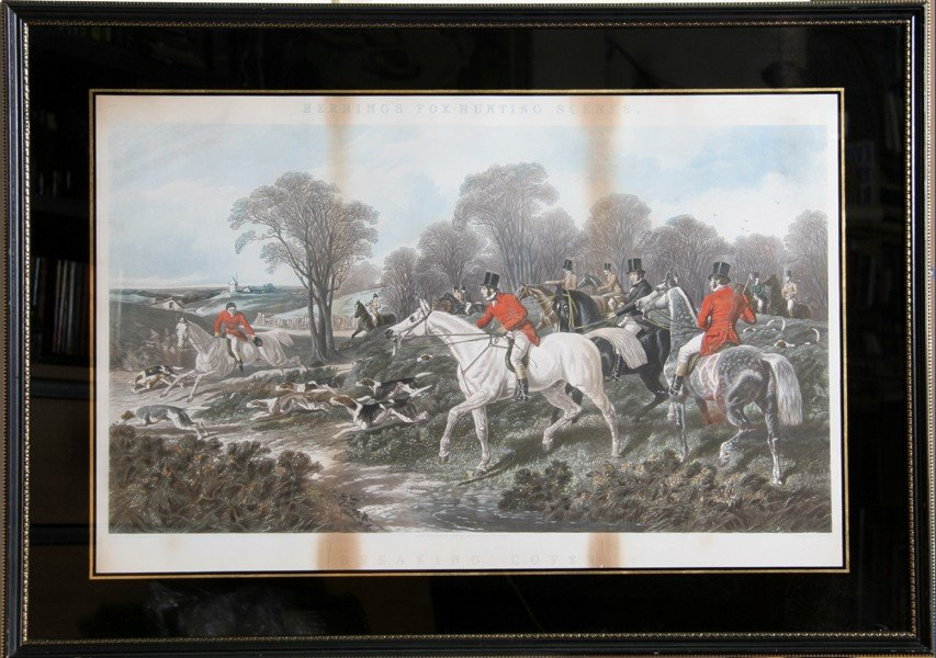 2: J. F. Herring, Breaking Cover, Lithograph