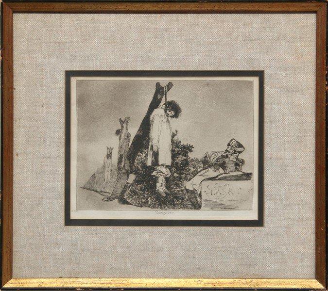 3: Francisco de Goya, Tampoco, Engraving