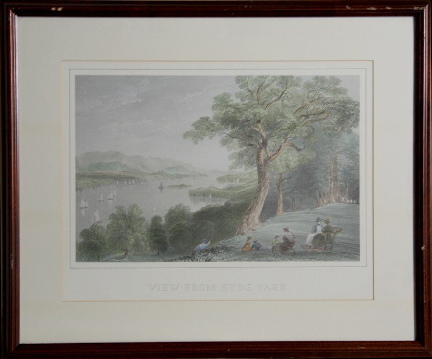 4: William Henry Bartlett, View From Hyde Park, Hand Co