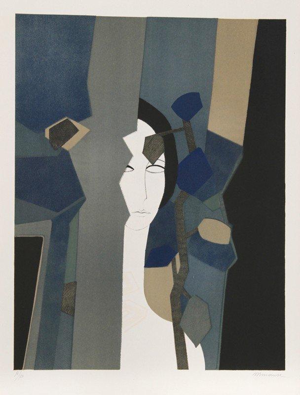 10: Andre Minaux, Amant from the Helene Portfolio, Lith