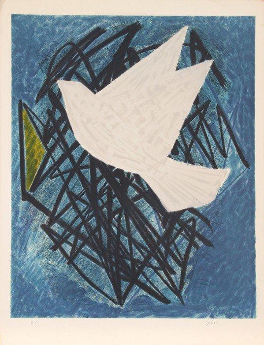 12: Emile Gilioli, Dove, Lithograph
