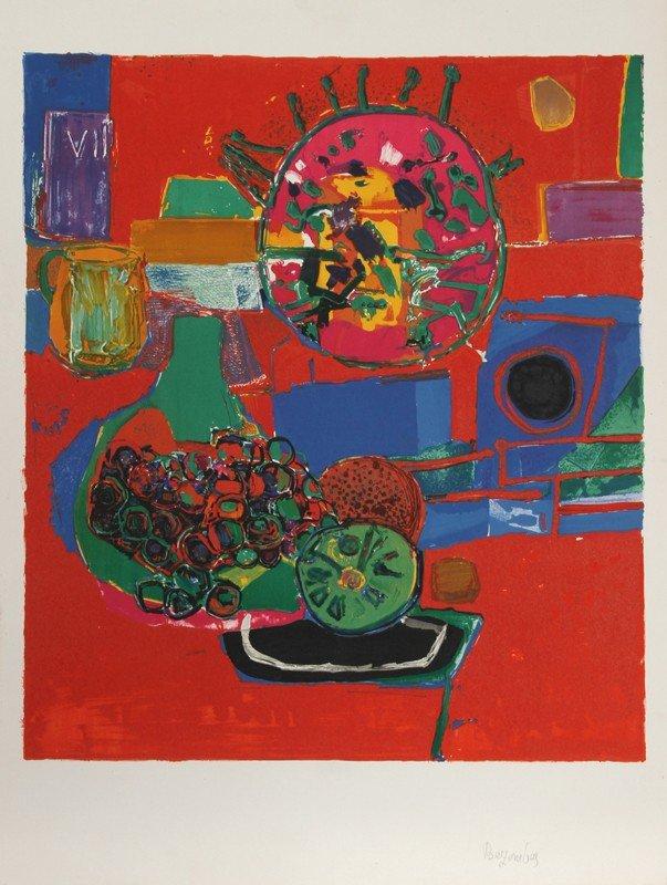13: Roger Bezombes, Nature Morte, Lithograph