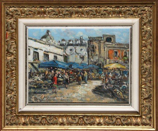 18: Edwardo Scognamiglio, Scorcio 1, Oil Painting