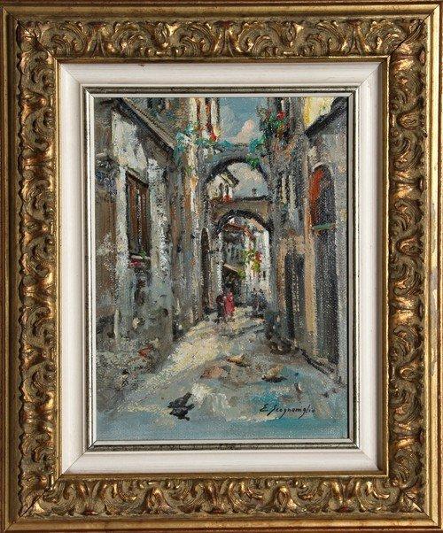 19: Edwardo Scognamiglio, Scorcio 2, Oil Painting