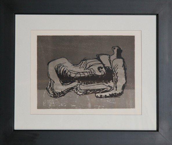 21: Henry Moore, San Lazarro, Lithograph