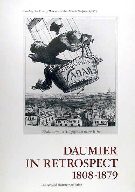 501: Honore Daumier, Retrospective, Poster