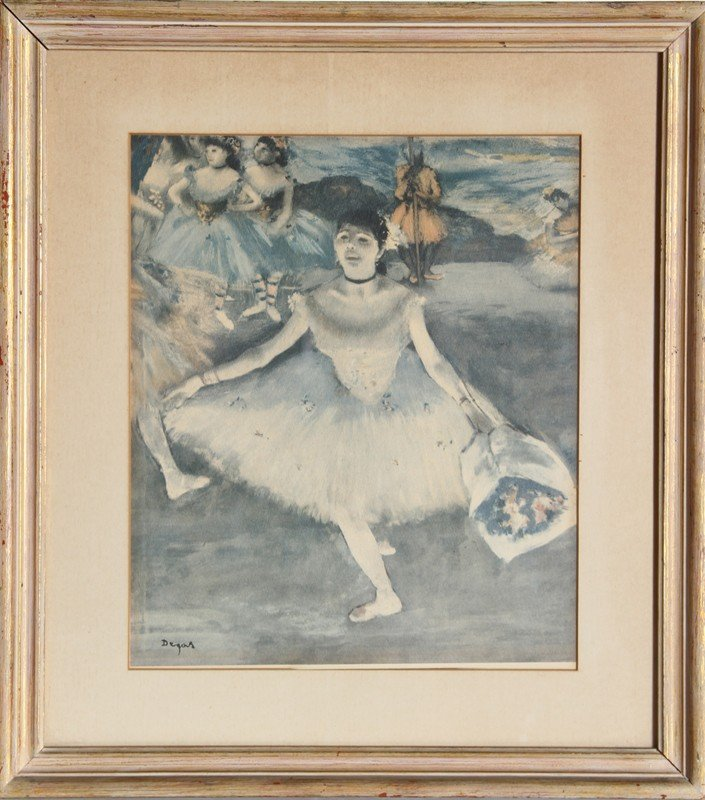 502: Edgar Degas, Taking a Bow, Poster
