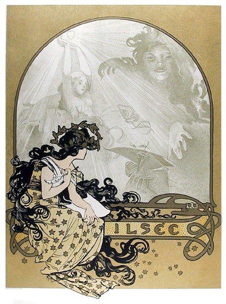 504: Alphonse Mucha, Ilsee, 23, Estate Lithograph Poste