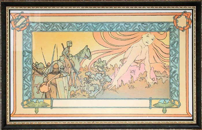 505: Alphonse Mucha, Soldier's Dream, Lithograph Poster