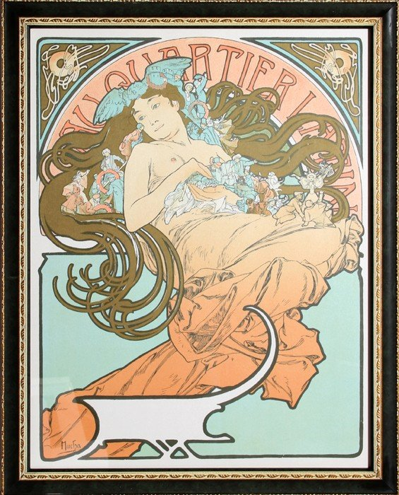 506: Alphonse Mucha, Au Quartier Latin, Lithograph Post