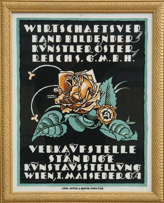 508: Franz Wacik, Wirtschaftsver, Lithograph Poster
