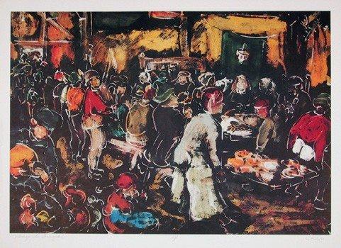 513: Bogdan Grom, Homage to Brueghel, Lithograph