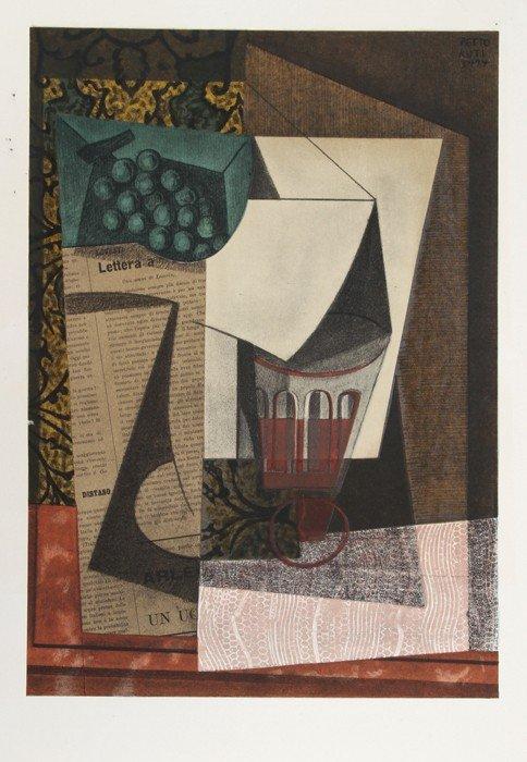 516: Emilio Pettoruti, Nature Morte, Lithograph
