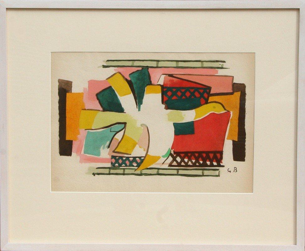 517: Georges Braque, L'Oiseaux de Feu, Lithograph